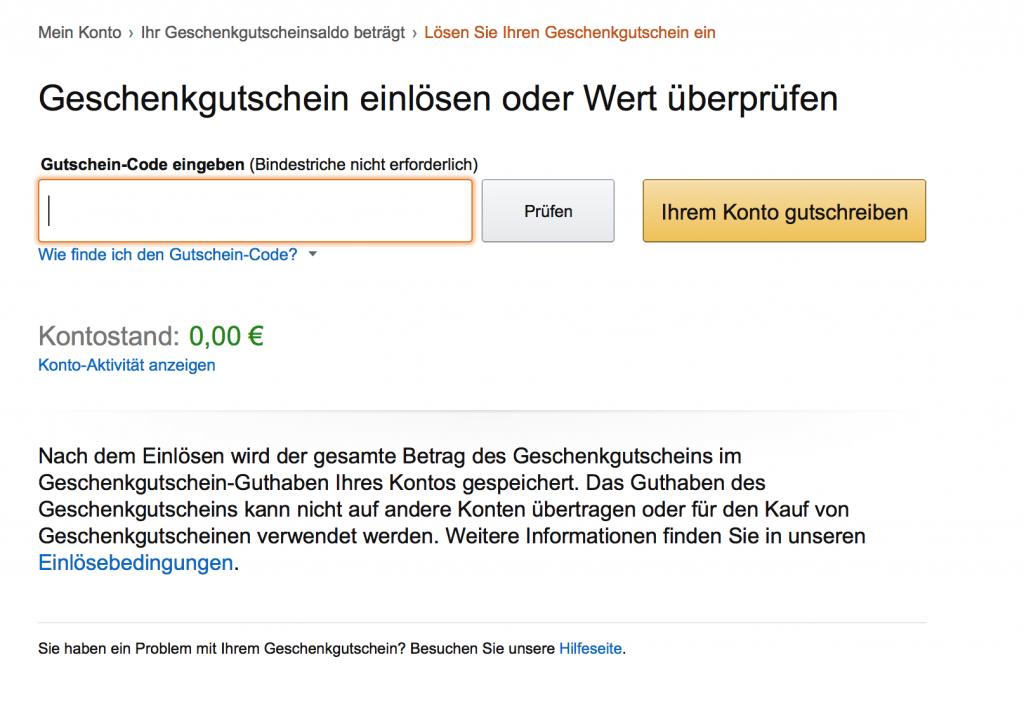 Hier können Sie feststellen, ob Ihr Gutschein bei Amazon noch gültig ist.