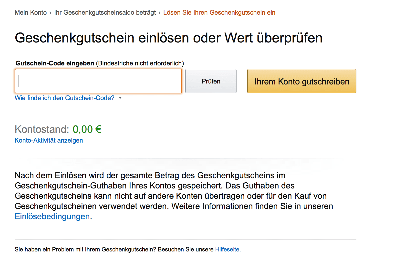 amazon gutschein gilt der code noch. Black Bedroom Furniture Sets. Home Design Ideas