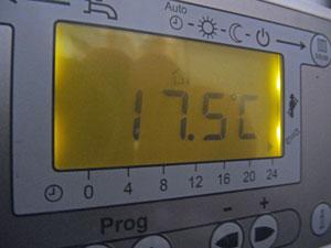 Aussentemperaturanzeige Heizung - (Foto: Markus Schraudolph)