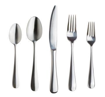 Besteck, bestehend aus zwei Löffeln, zwei Messern, einer Gabel - (Foto: iStockphoto/Daniel R. Burch)