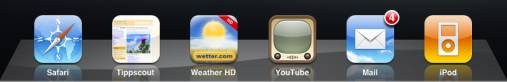 iPad Dock mit 6 Symbolen