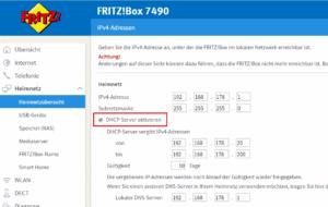Der DHCP-Dienst auf einer Fritzbox.