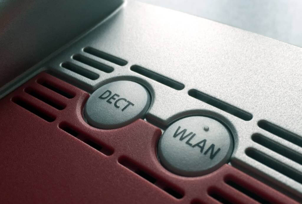 WLAN-Taste am Router