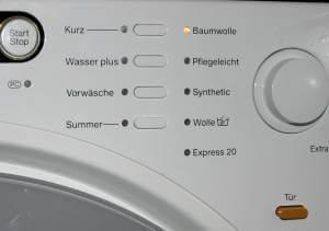Waschmaschine Bedienfeld - (Foto: Markus Schraudolph)