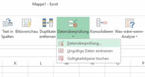 Excel - Datenüberpruefung