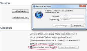 itunes backup verschluesselt