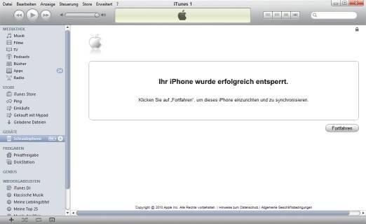 iTunes meldet iPhone ist entsperrt