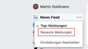 Facebook Neueste Meldungen anzeigen