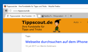 Firefox Tabs unter die Adressleiste verschieben
