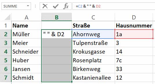 Excel: Zellen verbinden und die Inhalte zusammenfassen | Tippscout.de