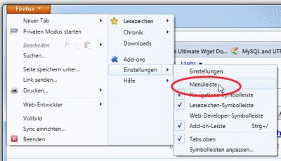 Firefox 4 klassische Menues einschalten