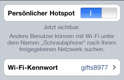 iPhone als Internet-Router einrichten