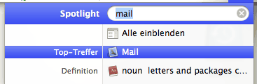 Spotlight zeigt wieder Mac-Ergebnisse