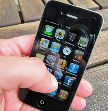 iPhone eingeschaltet