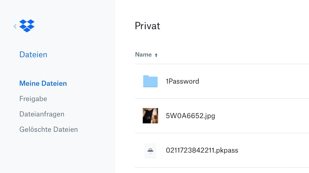 Datei in der Dropbox wiederherstellen