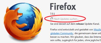 Firefox sucht nach Updates
