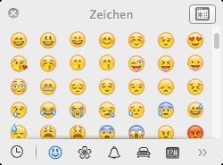 Kleines Fenster mit Emoji