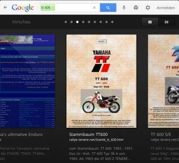 Google Suche Durchblättern der Ergebnisse