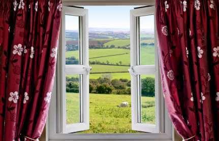 Vorhang vor Fenster - (Foto: iStockphoto/Simon Bratt)