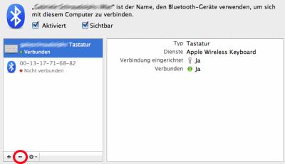 Mac Tastatur abmelden