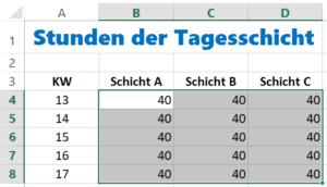 Excel Zellen ausfüllen