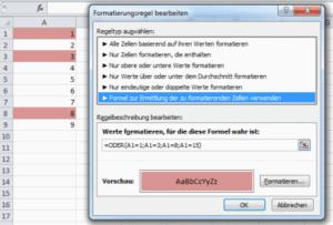 Excel Bedingte Formatierung Werteliste