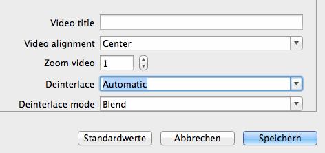 Deinterlacing im VLC Media Player auf dem Mac aktivieren
