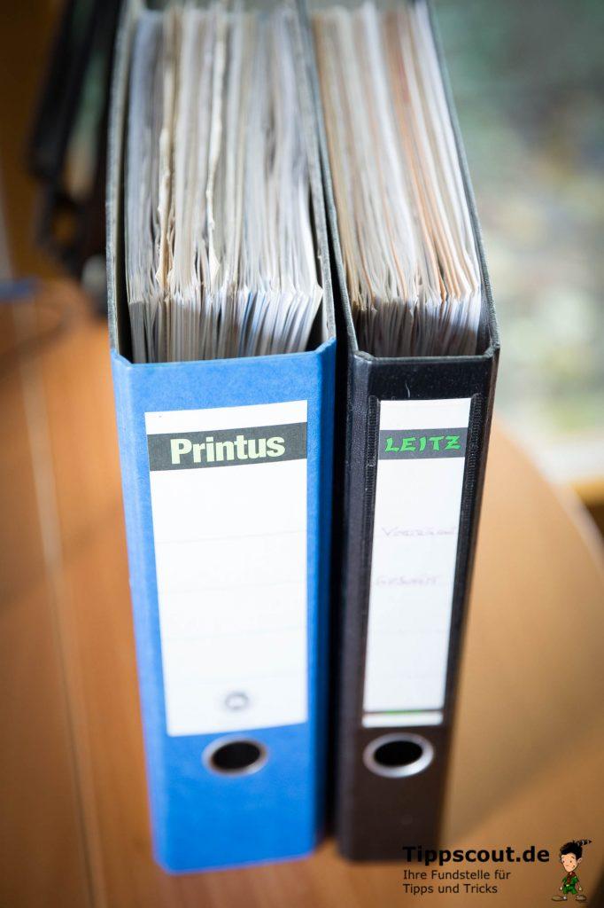 Bis zu zehn Jahre müssen Sie Unterlagen aufbewahren, bevor sie in den Müll dürfen.