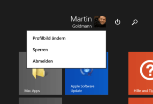 Profilbild ändern in Windows 8.1