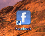 Facebook Link auf Desktop