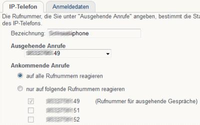 Telefoniedetails iPhone an Fritzbox