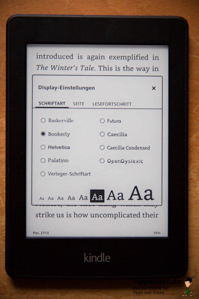 Mit wenigen Fingertipps ändern Sie die Schriftgröße Ihres Amazon Kindle.