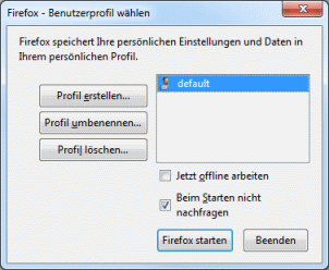 Firefox Profilmanager