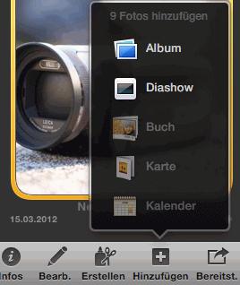 Hinzufügen-Schaltfläche in iPhoto
