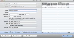 App Better Rename auf dem Mac