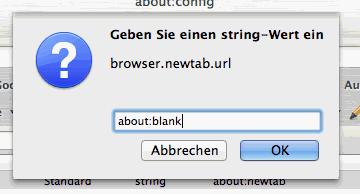 Wert in Firefox-Konfiguration ändern