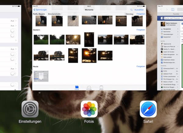 iPad Multitasking-Leiste