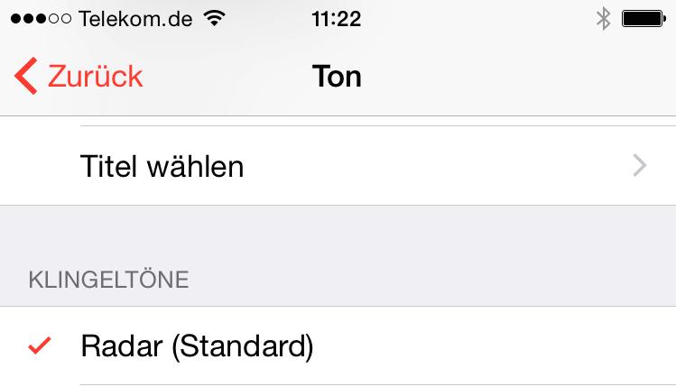 iPhone Musik auswählen für Wecker