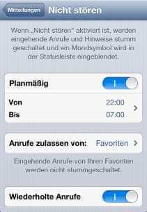 EInstellungen iPhone nicht stören