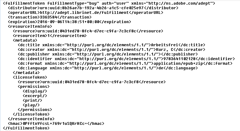 Inhalt ACSM Datei