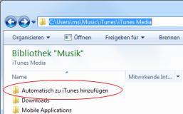 Auto-Ordner iTunes