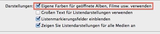 iTunes 11 Option zum Ändern der farbigen Hintergründe in der Albenansicht
