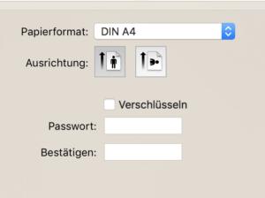 PDF umwandeln Optionen