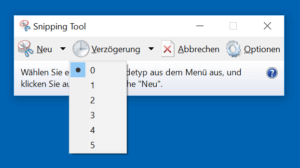 Windows Snipping Tool zum Screenshot machen