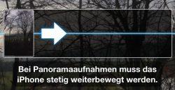 iPhone Panoramabilder Anzeige