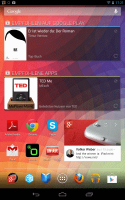 Android Tablet: voller Homescreen