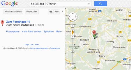 Google Maps GPS Daten nutzen