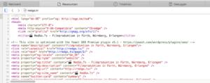 HTML-Quelltext anzeigen mit Safari