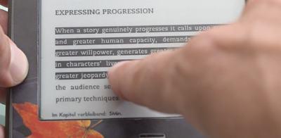 Text markieren mit dem Kindle - (Foto: Martin Goldmann)