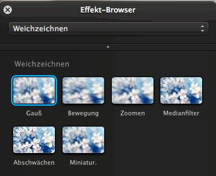 Pixelmator-Effekt Weichzeichnen